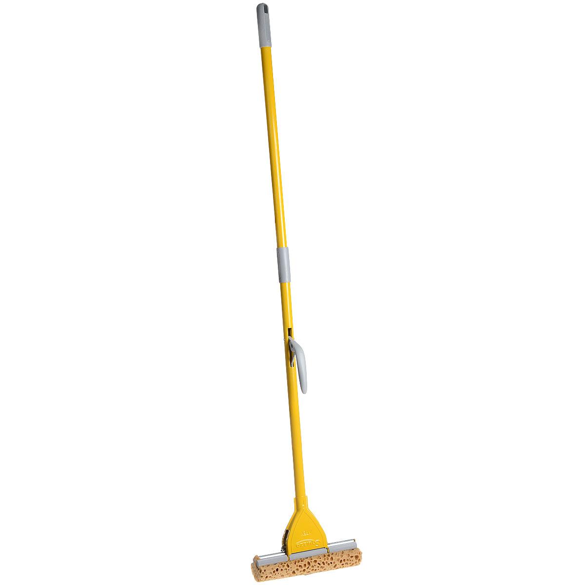 Швабра Apex Minor, с отжимом, цвет: желтый, серый, 28 см швабра apex minor с отжимом цвет желтый серый 25 см