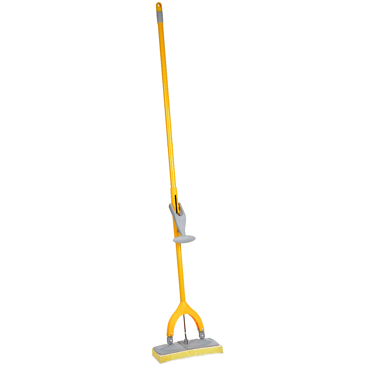 Поломой Apex Squizzo, с отжимом, цвет: серый, желтый швабра apex minor с отжимом цвет желтый серый 25 см