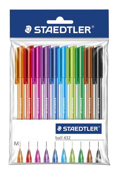 Шариковая ручка 432 M, набор 10 цв., блистер.уп. STAEDTLER maped шариковая ручка 1 мм 4 цв