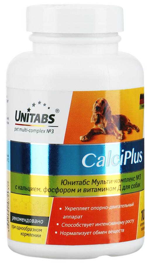 цены на Unitabs CalciPlus с кальцием, фосфором и вит. Д для собак, 100 таб.  в интернет-магазинах