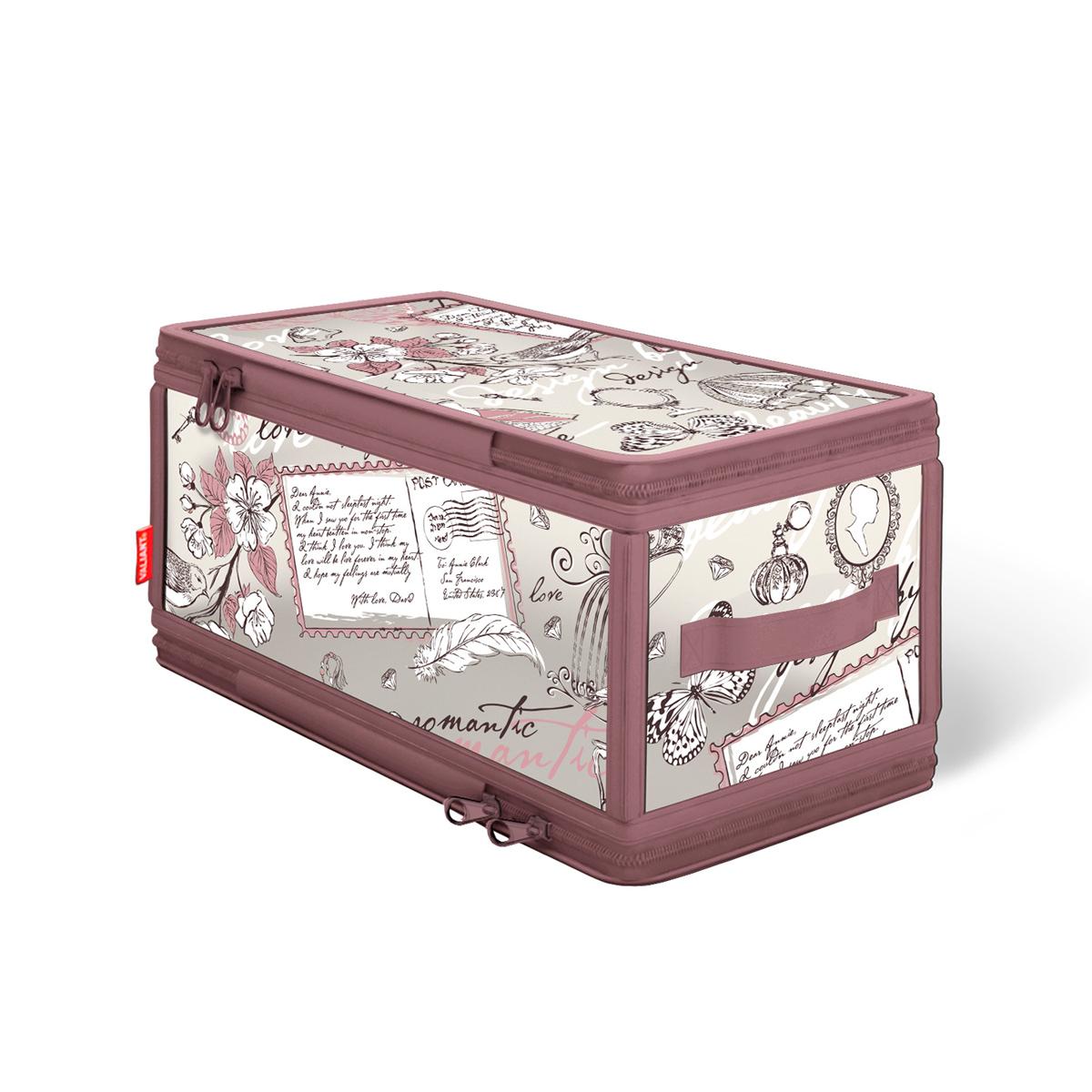 Кофр для хранения Valiant Romantic, с застежкой-молнией, 30 х 15 х 15 см omnilux бра omnilux padru oml 53301 01