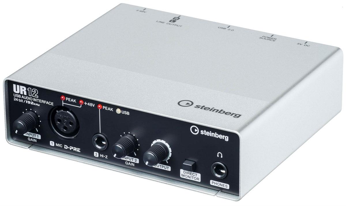 Фото - Steinberg UR12, Black Silver аудио интерфейс micro camera compact telephoto camera bag black olive