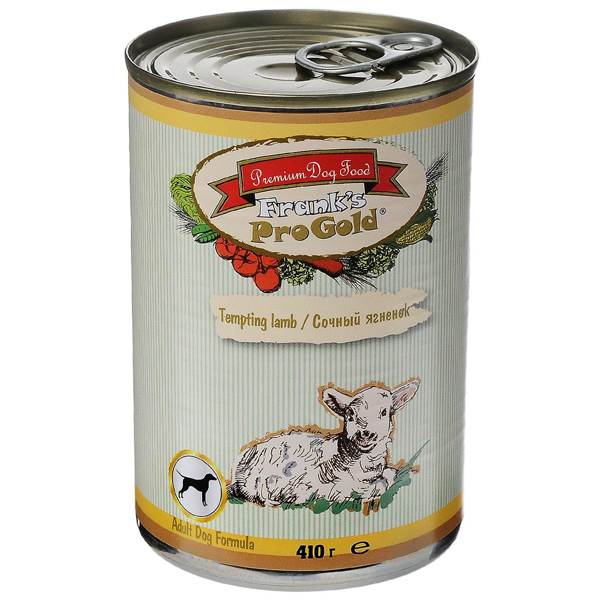 """Frank's ProGold Консервы для собак """"Сочный ягненок"""" (Tempting lamb Adult Dog Recipe), 410 г."""