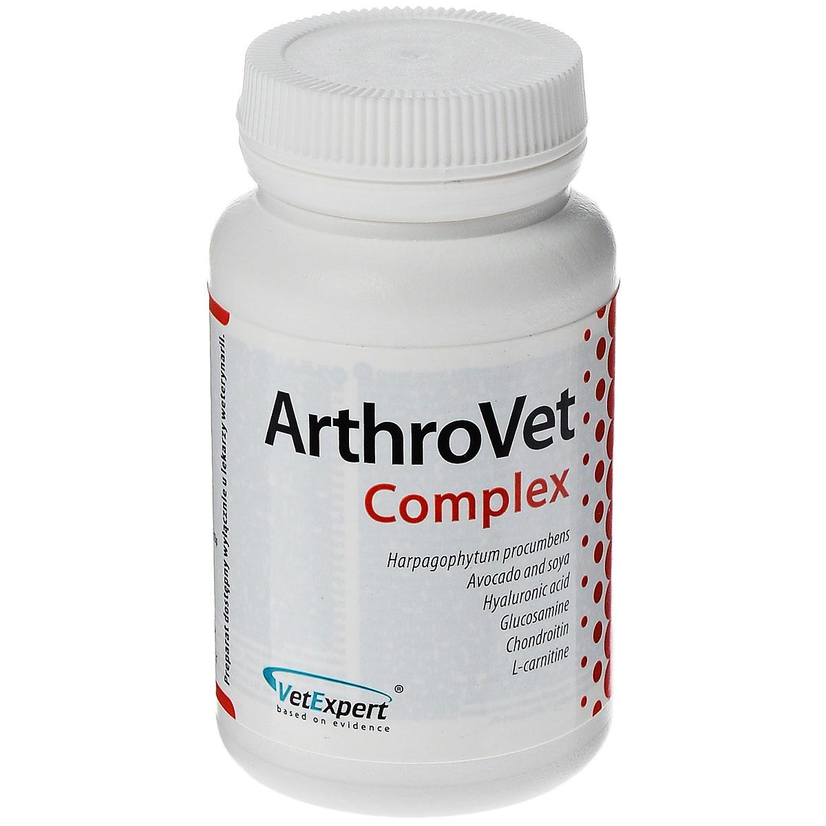 Витаминный комплекс для кошек и собак VetExpert ArthroVet, c гиалуроновой кислотой, 90 таблеток солгар комплекс глюкозамина и хондроитина 60 таблетки