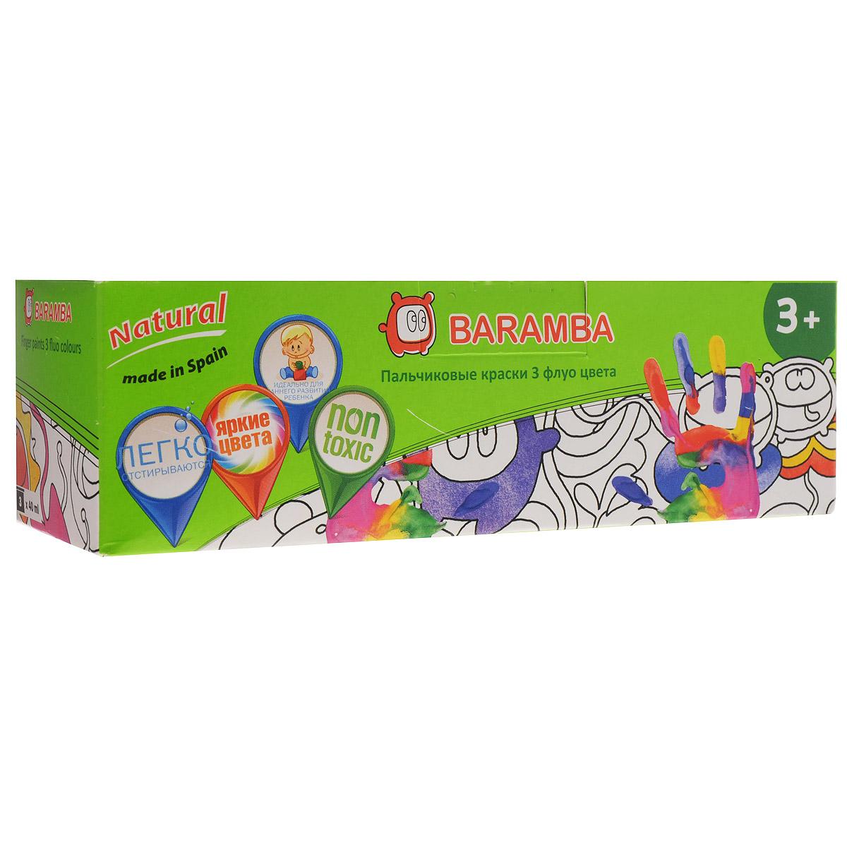 Краски пальчиковые Baramba, 3 цвета. B00553 акварель baramba сухая 12 цветов