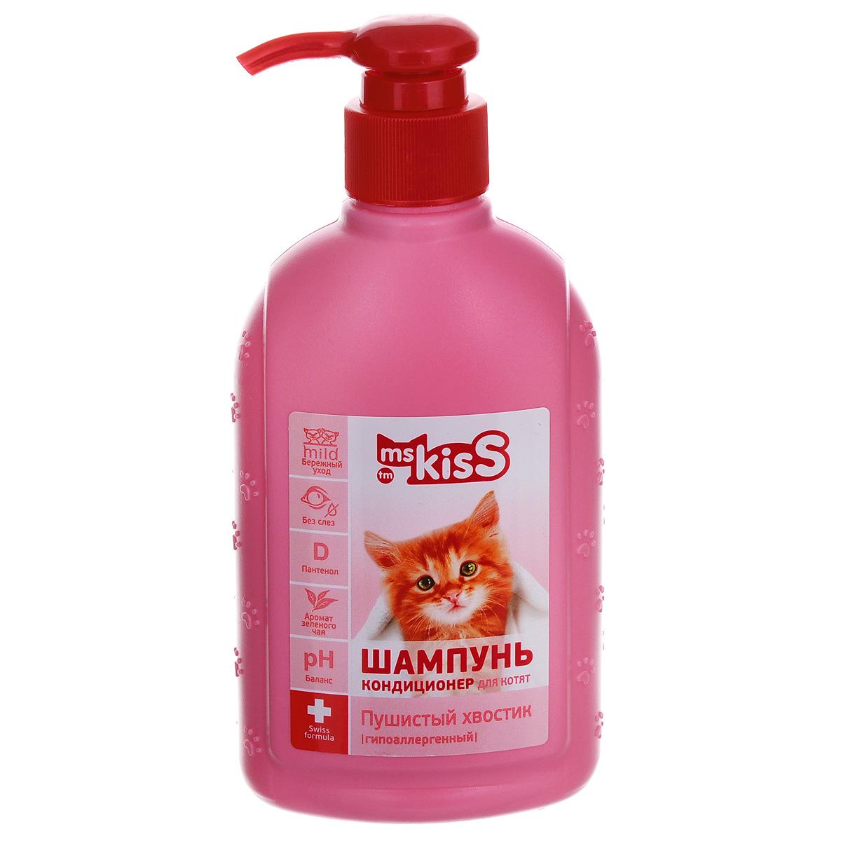 """Шампунь-кондиционер для котят Ms.Kiss """"Пушистый хвостик"""", 200 мл"""