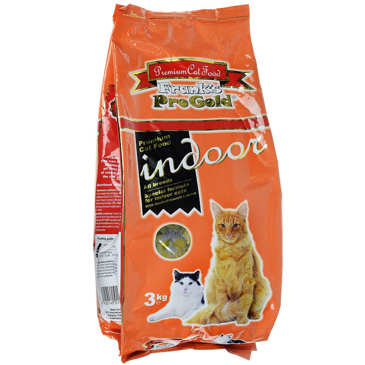 """Корм сухой """"Frank's ProGold"""" для домашних и кастрированных кошек, 3 кг"""
