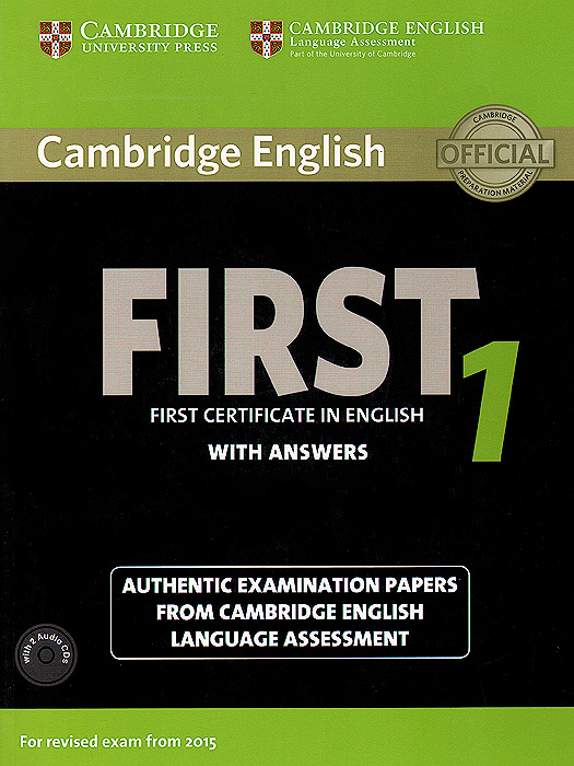 First 1: Student's Book with Answers (+ 2 CD) cambridge plays the pyjama party elt edition cambridge storybooks