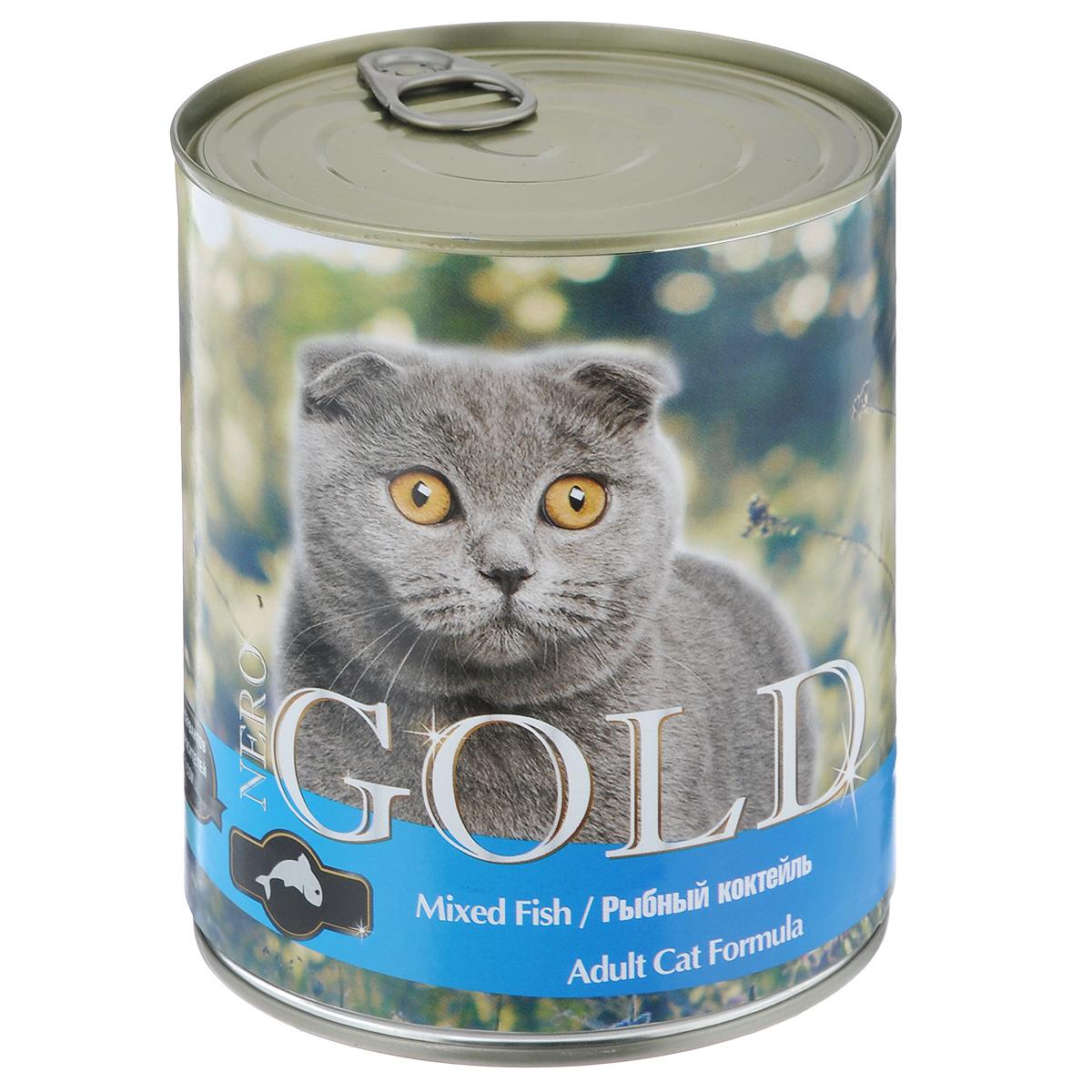 """Консервы для кошек """"Nero Gold"""", рыбный коктейль, 810 г"""