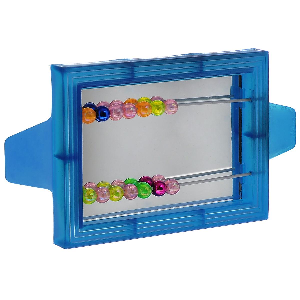 """Игрушка для птиц Triol """"Зеркало с бусинками"""", цвет: синий"""