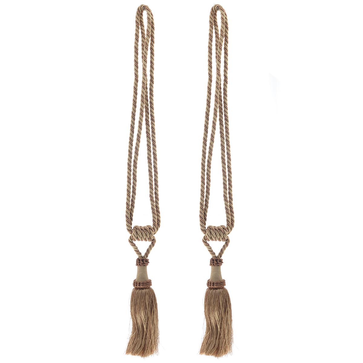 Подхват для штор Протос, цвет: светло-коричневый, длина 70 см, 2 шт подхват для штор протос цвет светло бежевый длина 70 см 2 шт