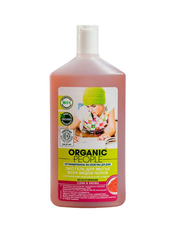 Organic People гель Эко д/мытья всех видов полов 500 мл вербена лимонная масло эфирное 100% 10мл