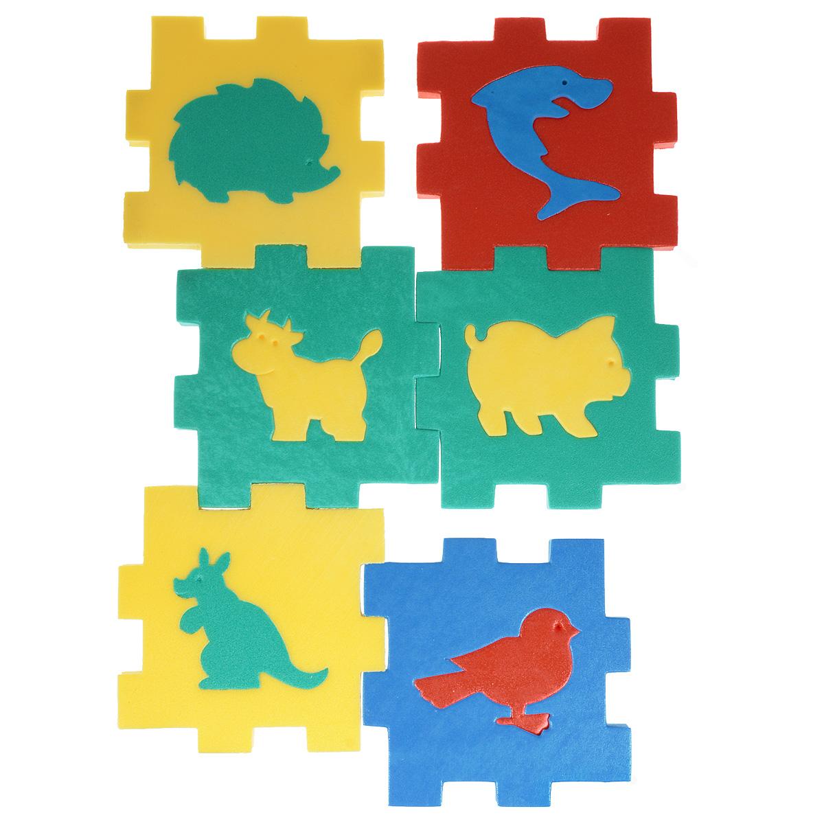 Флексика Мягкий конструктор Кубик с животными