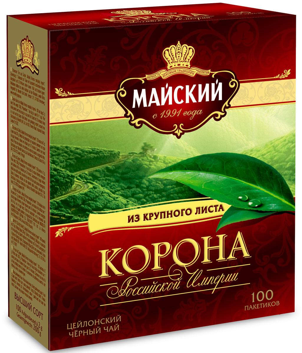 Майский Корона Российской Империи черный чай в пакетиках, 100 шт и майский б шоу и другие воспоминания