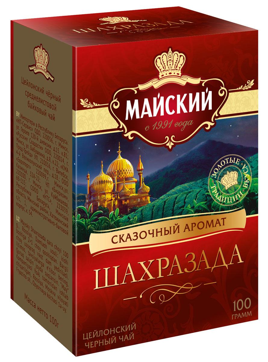 Майский Шахразада черный листовой чай, 100 г шахразада грезы маруфа башмачника