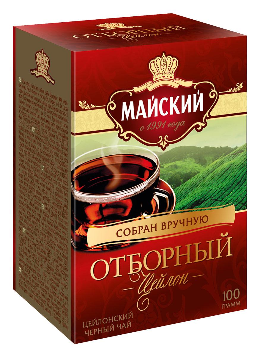 <b>Майский Отборный черный листовой</b> чай, 100 г — купить в ...