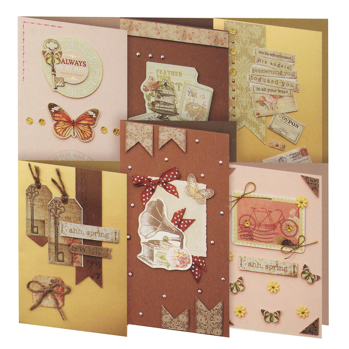 Набор для создания открыток Белоснежка Шоколад, 6 шт набор для создания открыток белоснежка аквамарин 6 шт