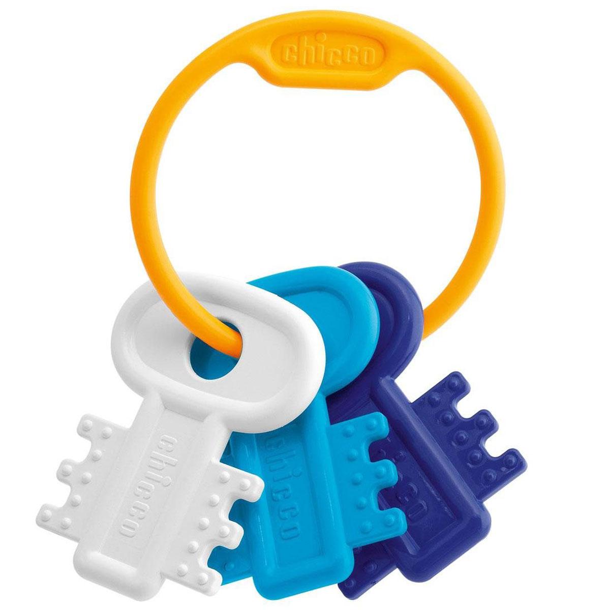 Chicco Погремушка Ключи на кольце цвет белый голубой погремушка lubby ключи цвет в ассортименте