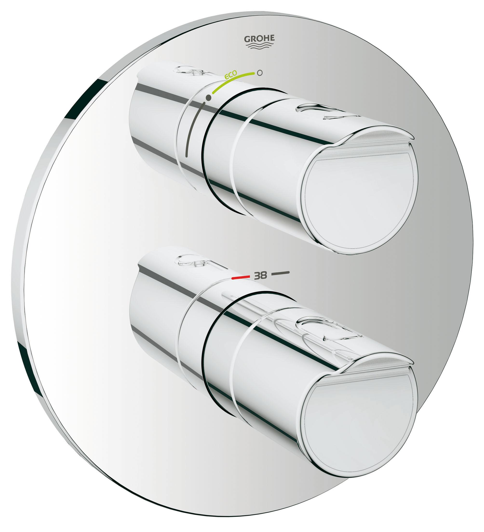 Термостатический смеситель для душа GROHE Grohtherm 2000 (внешняя панель для арт. 35500000) (19354001) цены