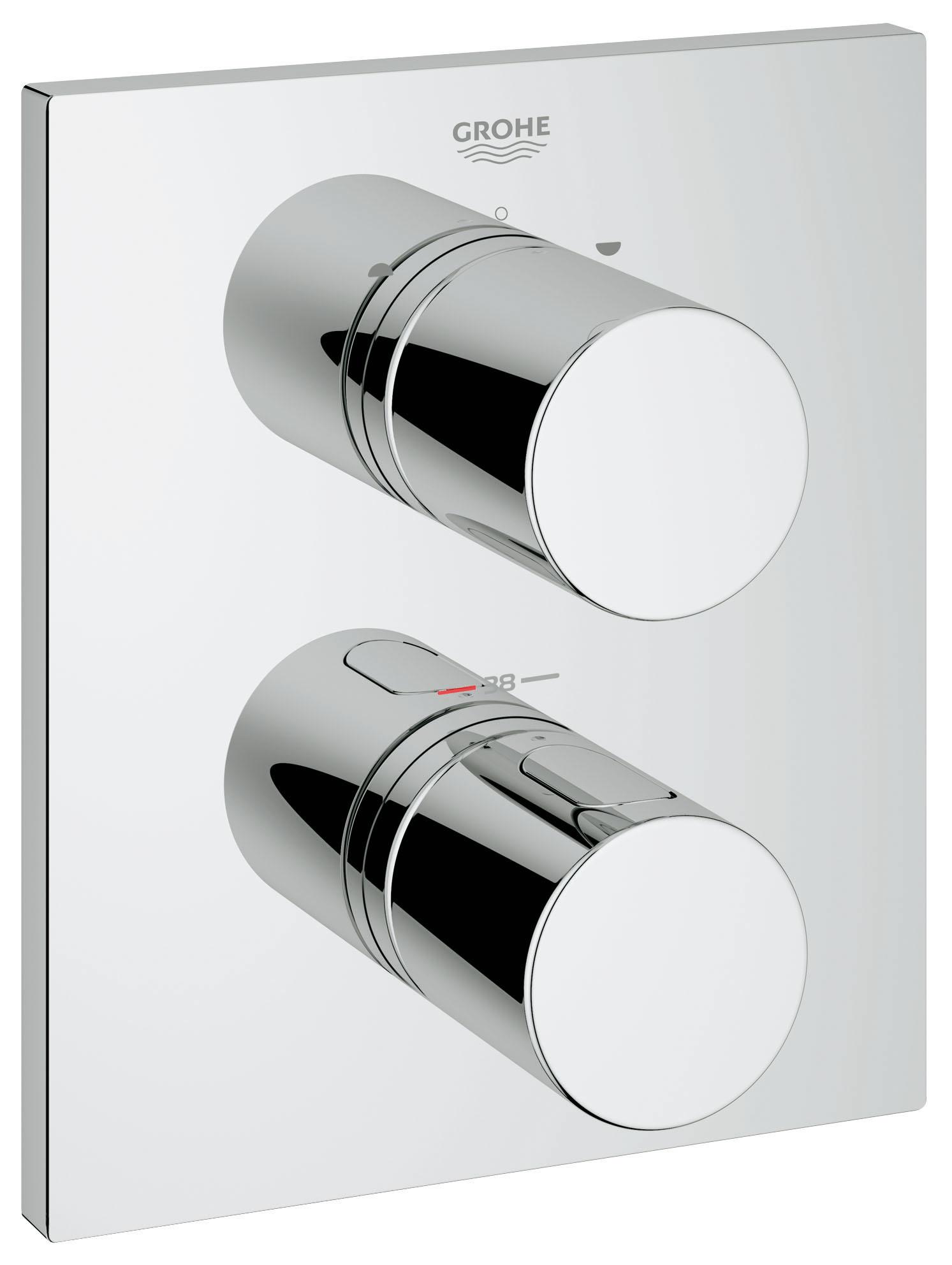Термостатический смеситель для ванны GROHE Grohtherm 3000 Cosmopolitan (внешняя панель для арт. 35500000) (19567000) цены