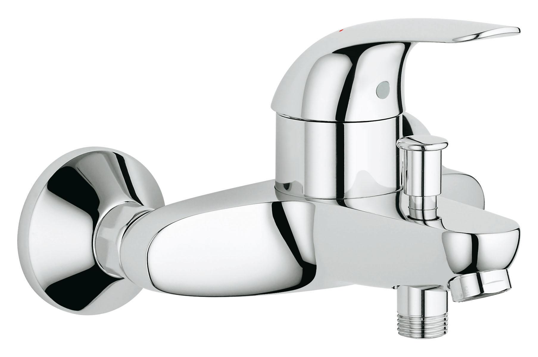 Смеситель для ванны GROHE Euroeco (32743000)32743000настенный монтаж металлический рычаг GROHE SilkMove керамический картридж диаметр 46 мм Grohe StarLight хромированная поверхность автоматический переключатель: ванна/душ встроенный обратный клапан в душевом отводе 1/2; аэратор скрытые S-образные эксцентрики отражатели из металла дополнительный ограничитель температуры (46 308 000) с защитой от обратного потока класс шума I по DIN 4109 Рекомендуем!