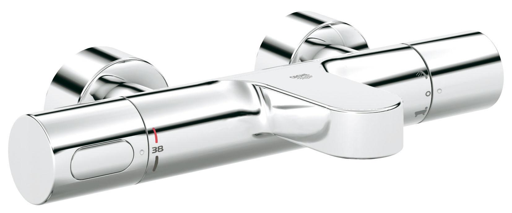 Термостатический смеситель для ванны GROHE Grohtherm 3000 Cosmopolitan (34276000)34276000Безопасный корпус GROHE CoolTouch®. Встроенный термоэлемент GROHE TurboStat®. Встроенный стопор смешанной воды. Carbodur керамический вентиль 1/2, 180°. Аквадиммер многофункциональный регулировка расхода, переключатель ванна/душ. Стопор безопасности при 38°C. Аэратор. Встроенные обратные клапаны. Грязеулавливающие фильтры. Скрытые S-образные эксцентрики. Защита от обратного потока. Хромированная поверхность GROHE StarLight®. Технология совершенного потока при уменьшенном расходе воды GROHE EcoJoy®
