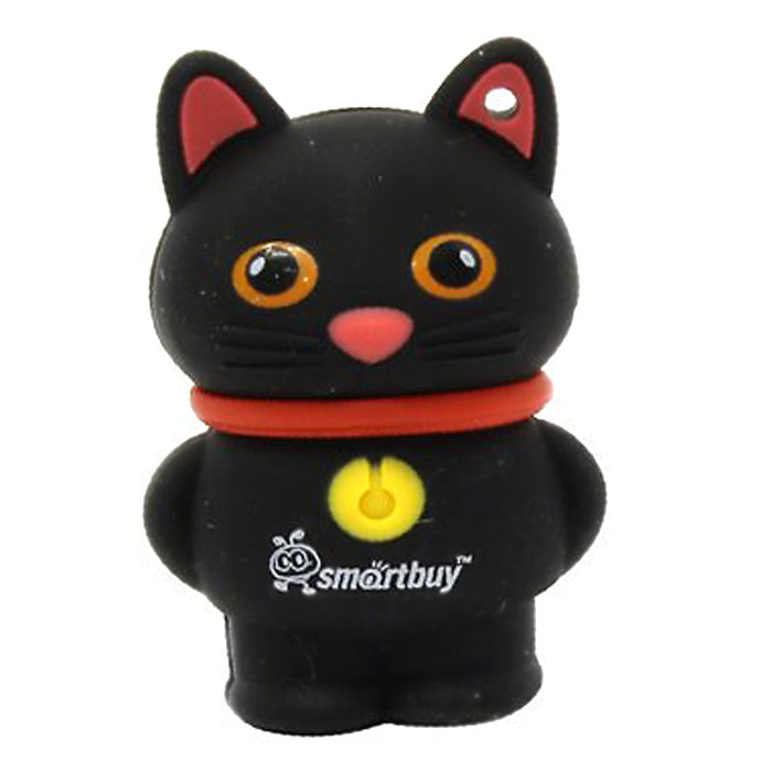 SmartBuy Wild Series Catty 8GB, Black USB-накопитель usb flash накопитель 8gb smartbuy u10 sb8gbu10 s usb 2 0 серебристый