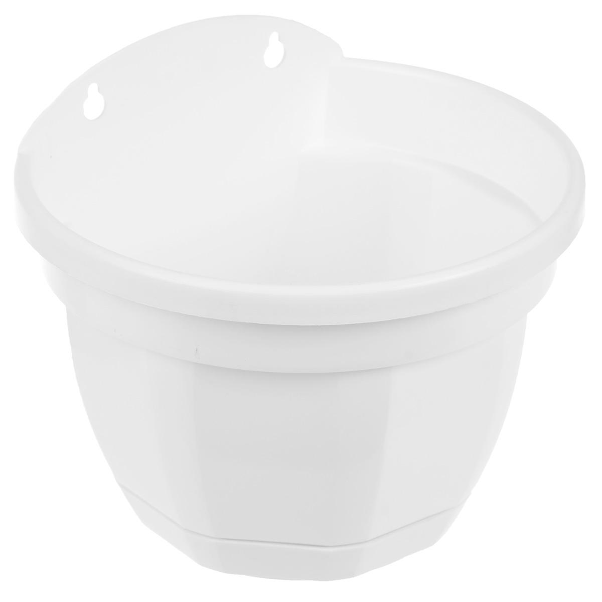 цена на Кашпо настенное Инстар Ника, цвет: белый, диаметр 20 см