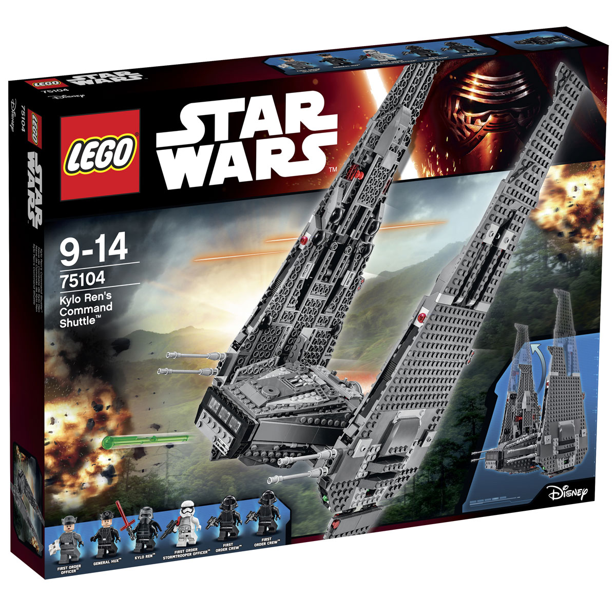 LEGO Star Wars Конструктор Командный шаттл Кайло Рена 75104 цена