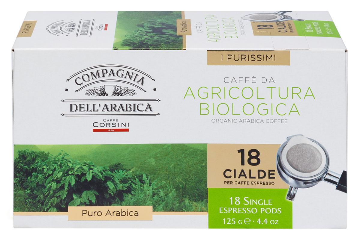 Compagnia Dell'Arabica Caffe Puro Arabica Da Agricultura Biologica кофе в чалдах, 18 шт must n puro arabica 10шт