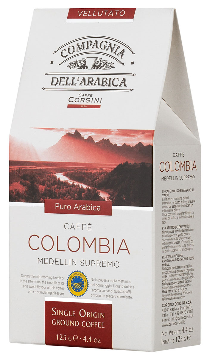 Compagnia Dell'Arabica Colombia Medellin Supremo молотый кофе,125 г (вакуумная упаковка) draco rosa medellin