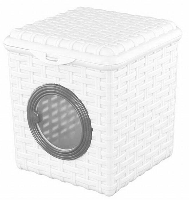 Контейнер для мелочей Violet, цвет: белый, 16 х 17 х 18 см контейнер для мелочей violet ротанг