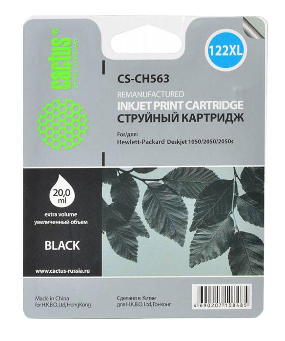 Cactus CS-CH563, Black струйный картридж для HP DeskJet 1050/2050/2050s чернила cactus 122xl cs i ch563 для hp deskjet 1050 2050 2050s 100мл черный