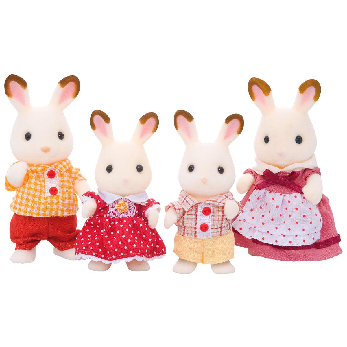 Sylvanian Families Набор фигурок Семья шоколадных кроликов игровые наборы sylvanian families игровой набор семья серых кроликов