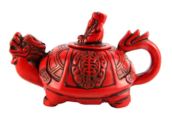 Чайник в тибетском стиле Драконочерепаха. Искусственный камень, резьба. Китай, вторая половина XX века курительница слон в тибетском стиле бронза прочеканка китай вторая половина xx века