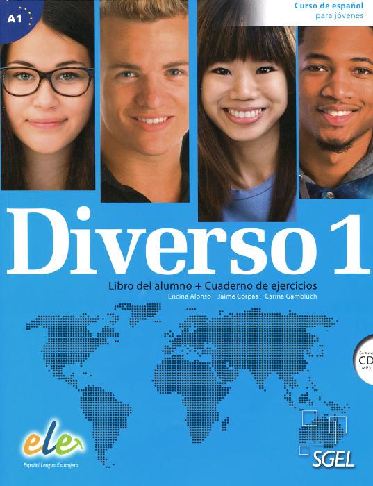 лучшая цена Diverso 1: Curso de espanol para jovenes: Libro del alumno + Cuaderno de ejercicios (+ CD)
