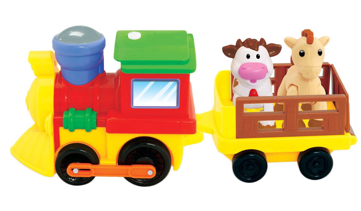 Kiddieland Развивающая игрушка Поезд с животными kiddieland развивающая игрушка пианино с животными минни маус и друзья kiddieland