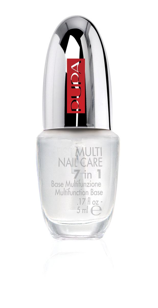 PUPA Многофункциональная основа для ногтей MULTI NAIL CARE 7 IN1, 5 мл limoni nail care magnetic base coat укрепляющая основа для ногтей в коробке 7 мл