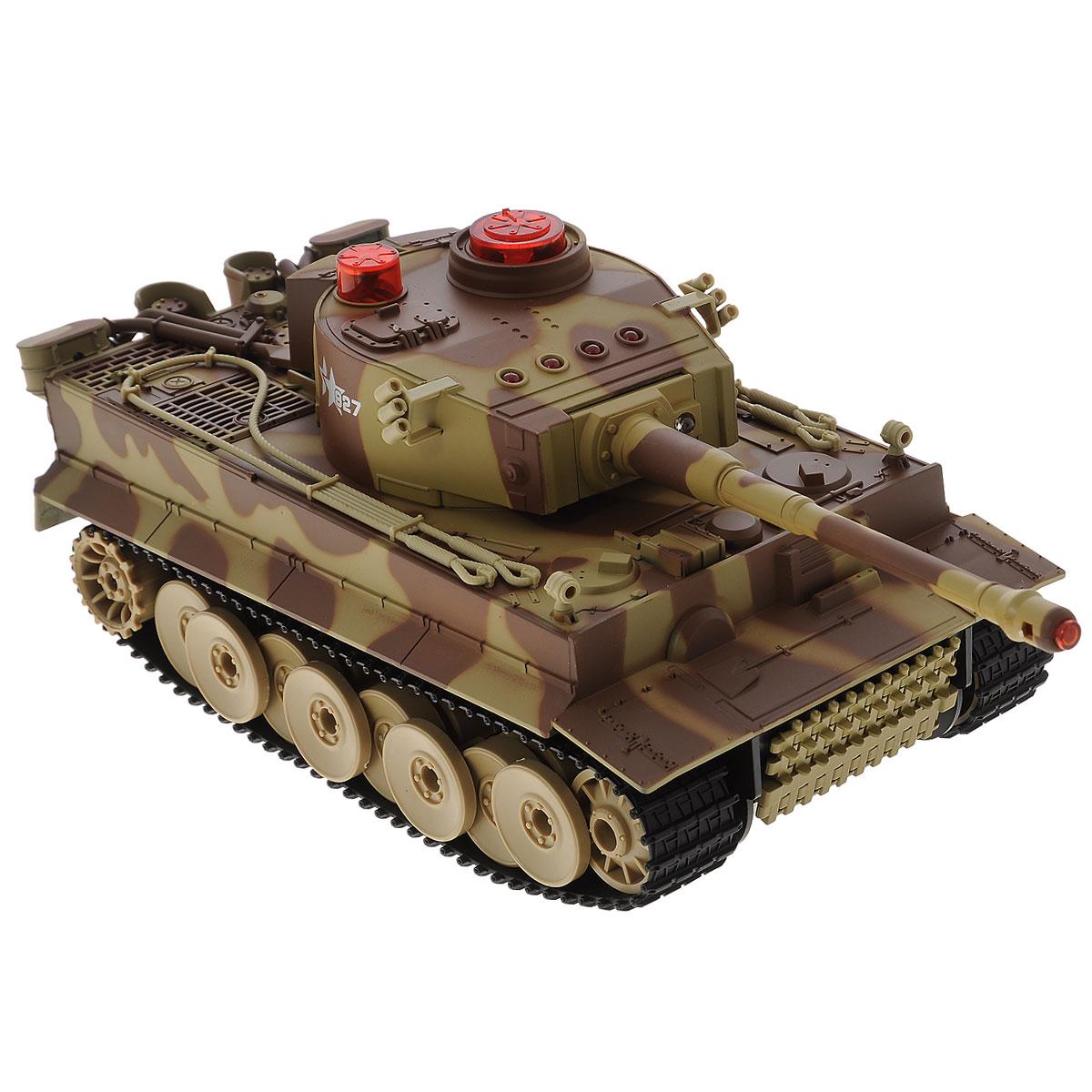 ABtoys Танк на радиоуправлении C-00058 цвет хаки радиоуправляемый танк abtoys с инфракрасным наведением звук свет c 00058 518
