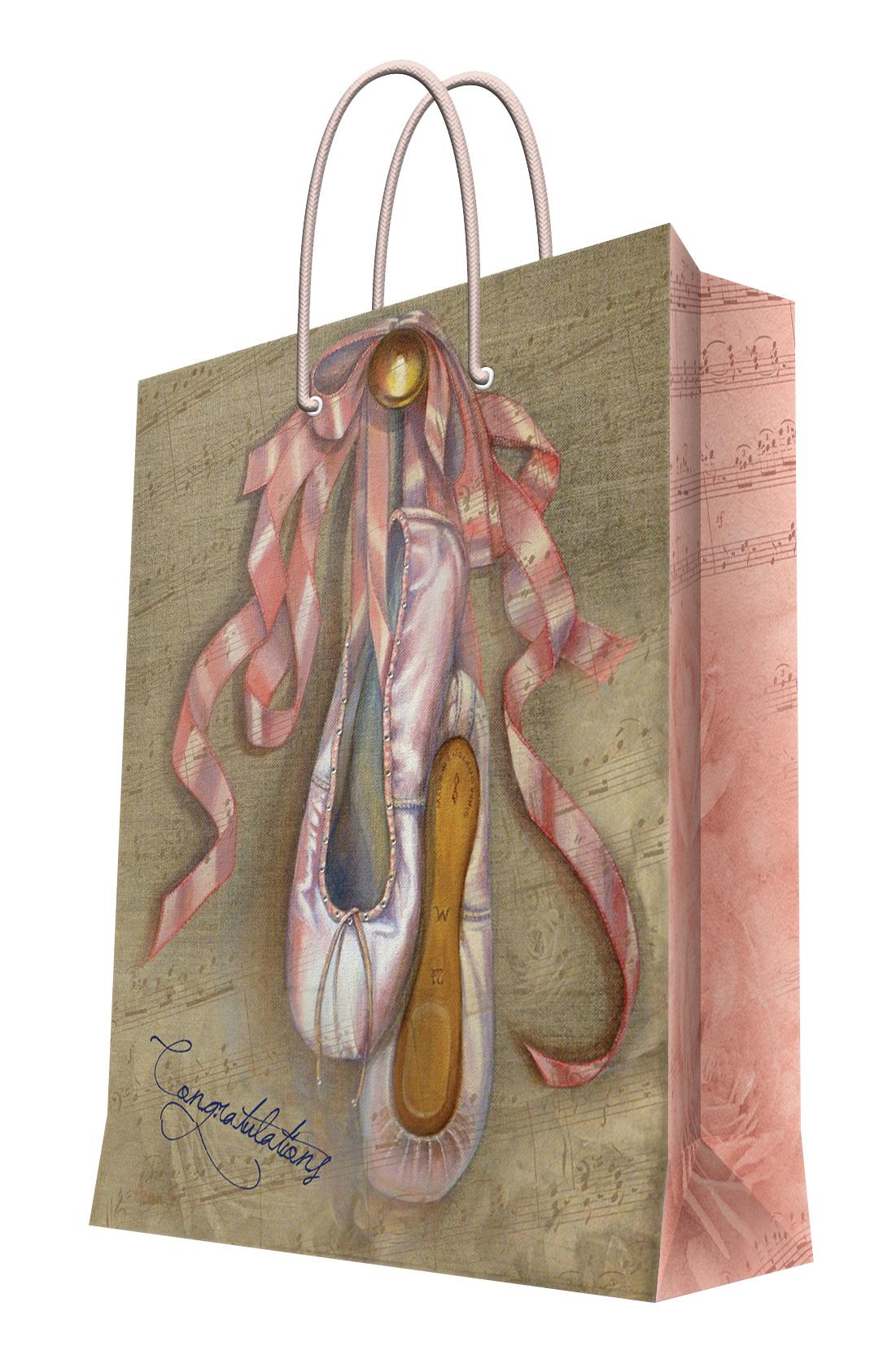 """Пакет подарочный Феникс-презент """"Пуанты"""", 18 х 23 х 10 см"""