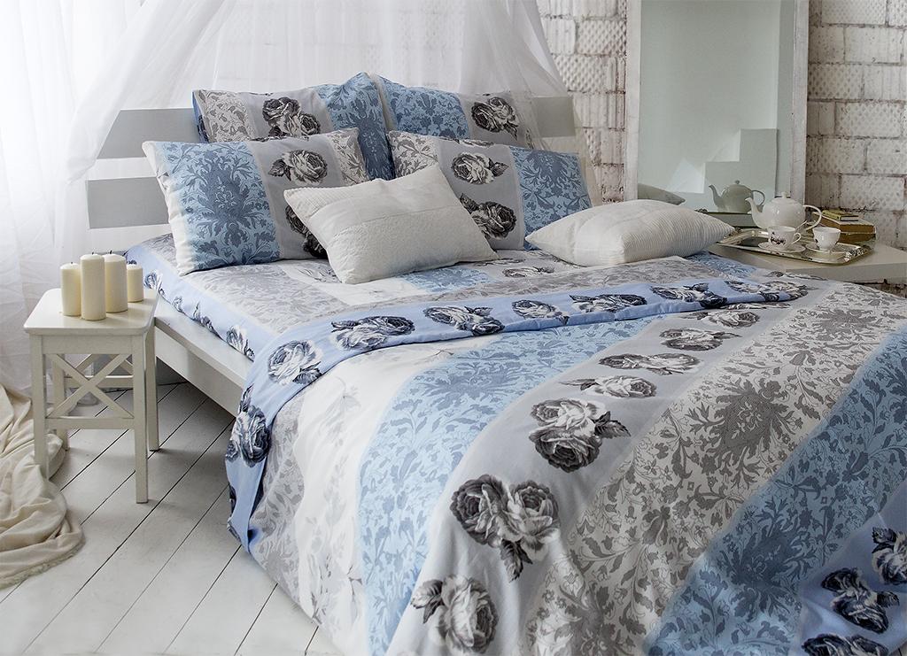 Комплект белья Tiffany's Secret Небесный эскиз (2-спальный КПБ, сатин, наволочки 50х70, 70х70) комплект постельного белья tiffany s secret евро сатин небесный эскиз