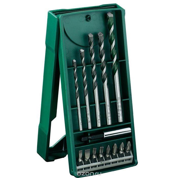 Набор оснастки Bosch X-Line-14 мини набор универсальных сверл и бит 2607017161 набор бит и сверел bosch x line 70 2607019329879