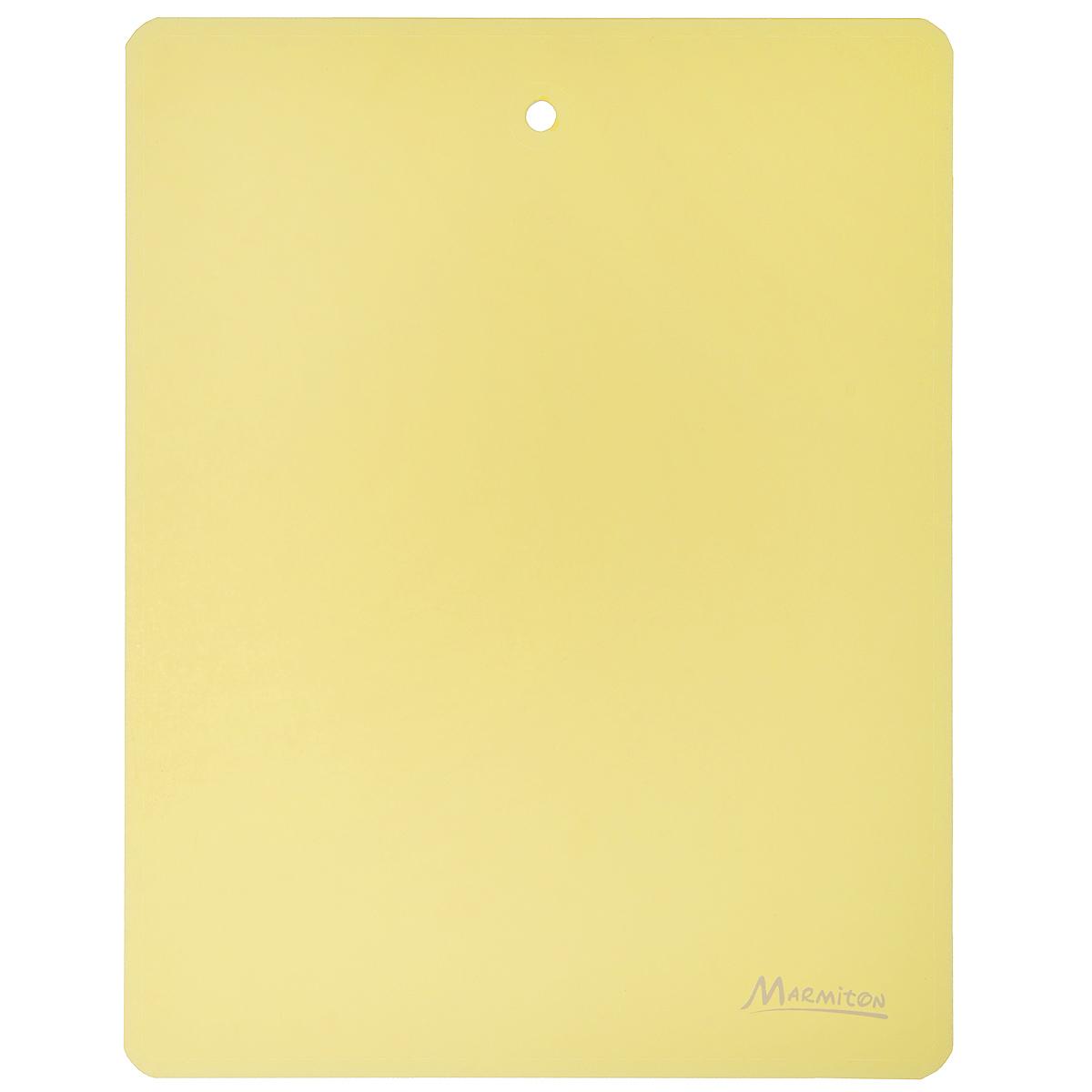 Доска разделочная Marmiton, гибкая, цвет: желтый, 28 см х 22 см доска разделочная marmiton птичий двор 17088
