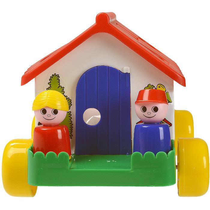 Каталка-сортер Полесье Игровой дом, цвет в ассортименте каталка сортер полесье игровой дом