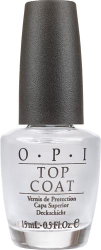 OPI Покрытие закрепляющее Top-Coat, 15 млNT141Профессиональная формула быстро закрепляет лак, оставляя после высыхания гладкую ровную поверхность с зеркальным блеском.