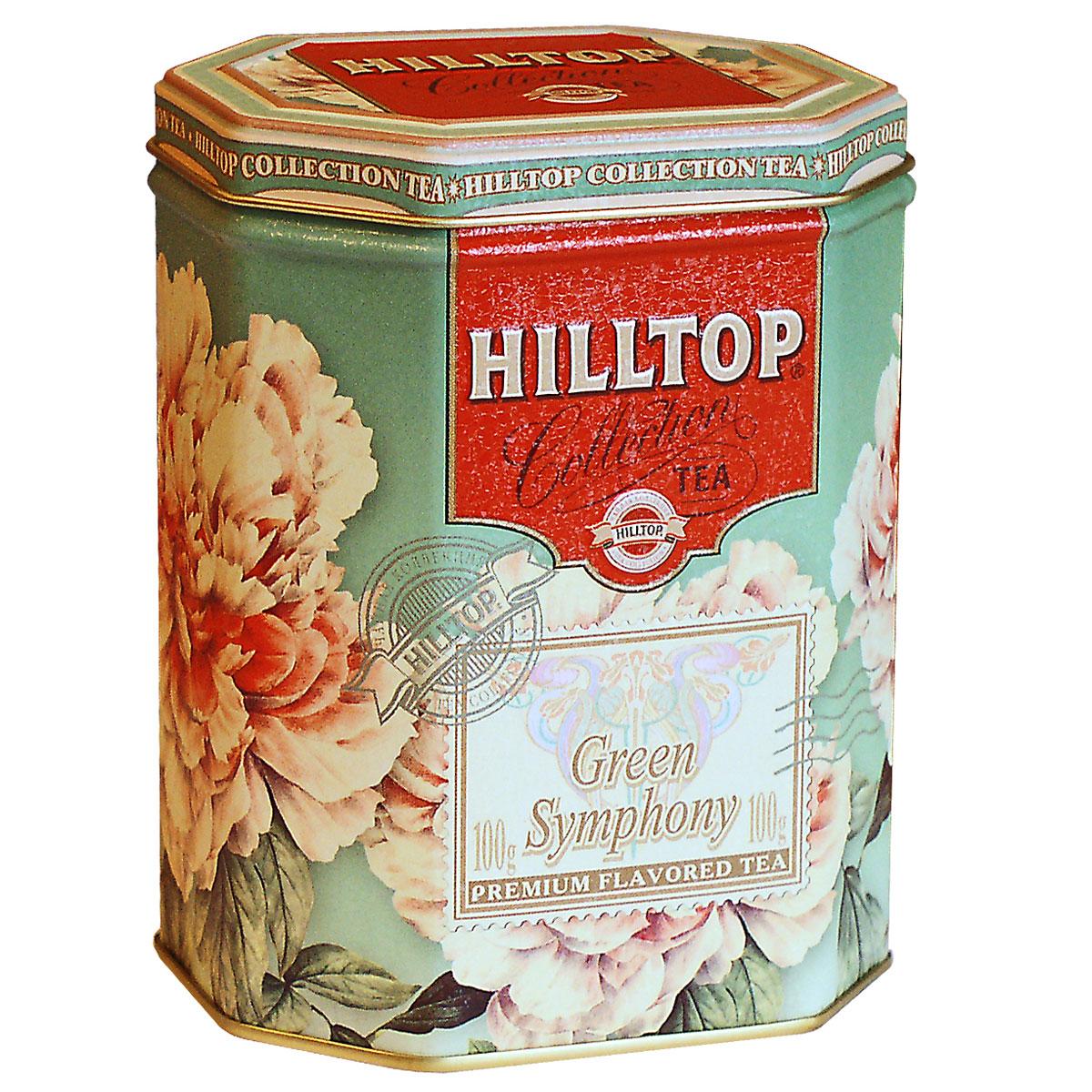 Hilltop Зеленая симфония зеленый листовой чай, 100 г