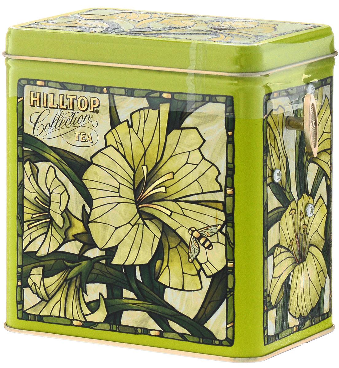 Hilltop Лилии Зеленая симфония набор зеленого листового чая в музыкальной шкатулке, 125 г hilltop розы 1001 ночь набор зеленого и черного листового чая в музыкальной шкатулке 125 г