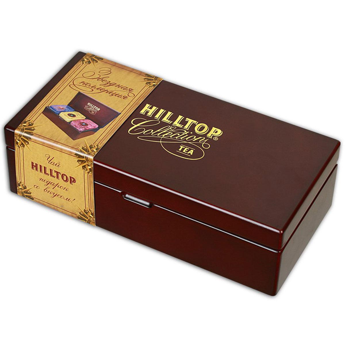 Hilltop Звездная коллекция малая, набор листового чая, 170 г hilltop розы 1001 ночь набор зеленого и черного листового чая в музыкальной шкатулке 125 г
