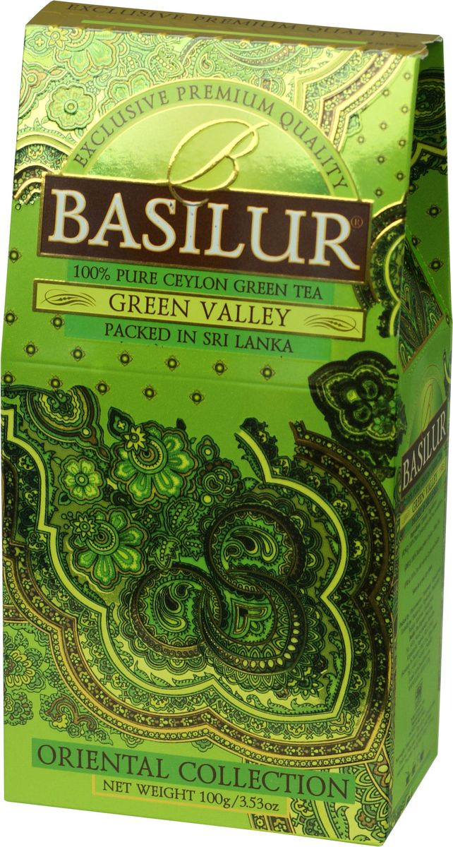 Basilur Green Valley зеленый листовой чай, 100 г basilur frosty afternoon черный листовой чай 100 г жестяная банка