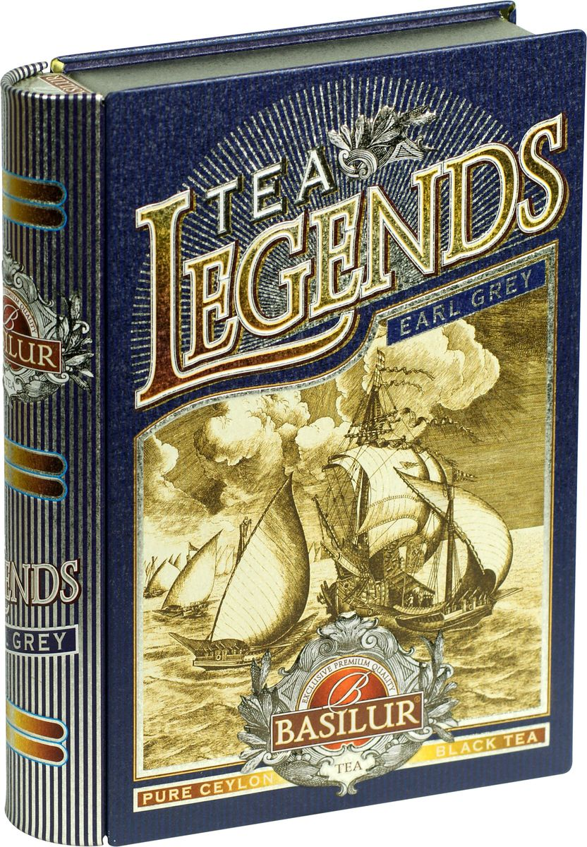 Basilur Legends Earl Grey черный листовой чай, 100 г (жестяная банка) jaf tea earl grey classic чай черный листовой с ароматом бергамота 100 г